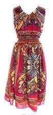 Women's Sleeve Less Empire Waist Smocked Printed Maxi Dress NWT 16W - 18W - 22W.