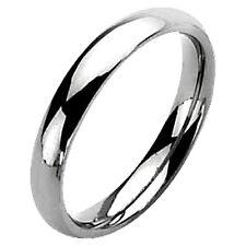 Plain Polished Fashion TITANIUM Wedding RING BAND - size 5, 6, 7, 8, 9, 10
