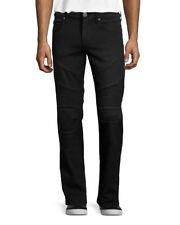 True Religion Men's Geno Slim Moto Jeans Black MC408SQ9