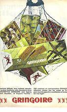 PUBLICITE ADVERTISING  1964  GRINGOIRE biscuits gateaux gaufrettes à la vanille