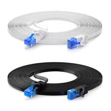 CAT 6 Patchkabel Netzwerkkabel Flachkabel DSL LAN Flach Kabel RJ45  0,25m - 30m