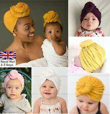Baby Girls Women Bun Knot Spiral Turban Head Wrap Cute Kids Ear Hat Cotton Cap