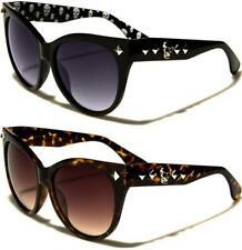 Nuevas gafas de sol negras Ladies Girls Cat Eye gran cráneo gótico gran diseñador Grandes