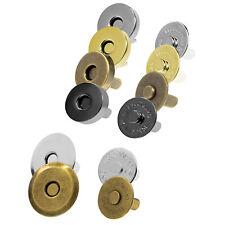HS 5 Sets Silberfarbe Halbkreis Magnetverschluss Verschluss 19x12mm