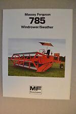 Massey Ferguson Brochure -  MF785 Windrower Swather - spec sheet specifications