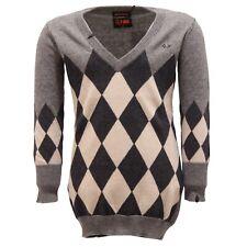 2131T maglione maxi bimba SUN 68 cotone/cashmere grigio/beige maxipul kid