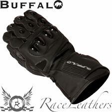 Buffalo SPARTAN Cuero Negro Impermeable Motocicleta Moto Guantes de MOTO