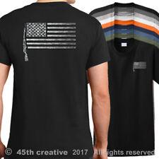 USA SKS-45 Rifle Flag T-Shirt - sks 45 rifle firearm shirt american flag shirt