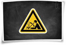 Aufkleber W032 Warnschild Warnung vor hochschnellendem Werkstück in einer Presse