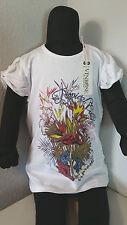 VINROSE Kinder Shirt T-Shirt Gr. 92 - 146 Kurzarm Flamingo weiß NEU