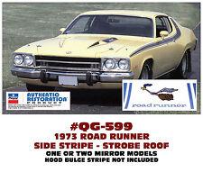 QG-599 1973 PLYMOUTH ROAD RUNNER - SIDE & ROOF STROBE STRIPE KIT