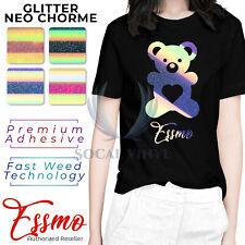 ESSMO™ Neo Chrome Glitter Holographic Sparkle T-Shirt Heat Transfer Vinyl HTV