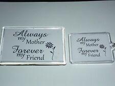 MOTHER FOREVER FRIEND FRIDGE MAGNET/KEY RING. FANTASTIC  GIFTS. CHOOSE YOURS.