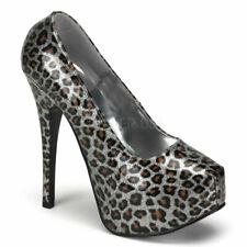 "Sexy metallic 5 3/4"" cheetah print pumps"