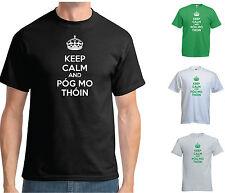 Mantener la calma y Pog mo thoin T-shirt - Irlanda Irish Funny St Patrick Paddy's