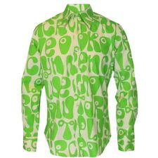 Chenaski 70s Retro Vintage Moloko Green/Yellow Psychedelic Hippy Pop Art Shirt