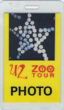 U2 1992 ZOO TV LAMINATED BACKSTAGE PASS Photo yellow