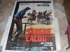MANIFESTO ORIGINALE SANGUE CALDO R.MITCHUM 1962