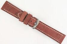 NAVYBOOT Uhrenarmband 22mm Robustes Kalbsleder Braun Länge: M