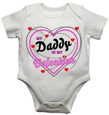 My Daddy Is My Valentine Divertente Da Bambino/Tutina Bambino Neonato body bebè/