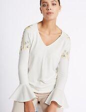 Per Una V Neck Flare Sleeve T-shirt / Top 14/16/18 RRP £25