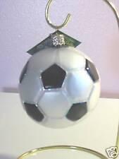 """Old World Christmas - """"Soccor Ball"""" Glass Ornment"""