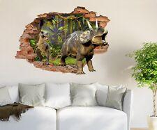 3D Original Dinosaur Forest 6 Wall Murals Wall Stickers Decal breakthrough AJ CA