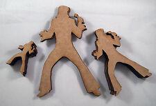 MDF Wooden Laser cut out Elvis Figure in 3 sizes
