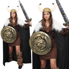 Da Donna Costume da vichingo con accessori dorati Medievale Nordic Guerriero Costume