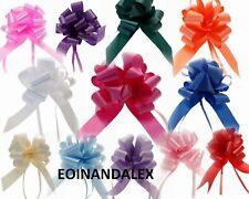 Medium Pull Bows 30mm Ribbon Wedding Car Ribbon Venue Birthday Pew 24+ Colours