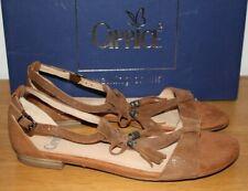 Caprice Womens Cognac Brown Suede Leather Sandals Various Sizes BNIB