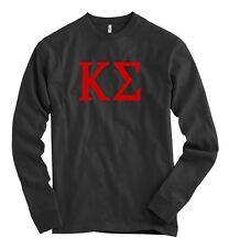 Kappa Sigma Bella + Canvas Black Long Sleeve T Shirt Sig Letters *NEW*