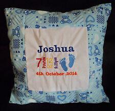 BABY BOY GIRL NASCITA annuncio personalizzato cuscino pillow bomboniera regalo
