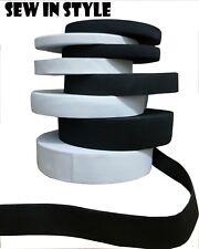 BLACK & WHITE STRETCH ELASTIC FLAT ELASTIC  FAST DISPATCH