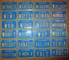 1960's Vintage California Mini Bike Vanity Metal License Plate Wong Wood Wright