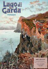 TX254 Vintage 1920's Italy Lake Lago de Garda Italian Travel Poster A1/A2/A3/A4