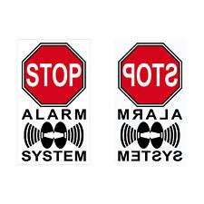 Alarm System 4cm rot Aufkleber Sticker Set für Innenseite Fenster Glas Scheibe