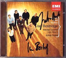 Ian BOSTRIDGE & Julius DRAKE Signiert Debussy Faure Poulenc BELCEA QUARTET CD