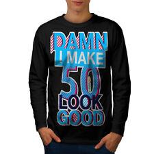 50 anni età compleanno uomo manica lunga T-shirt Nuove   wellcoda