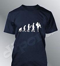 Tee shirt personnalise homme evolution BOXE THAI M L XL humour human sport