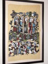 SADAO WATANABE - Masterpiece Large Original 1964 Japanese Stencil Print