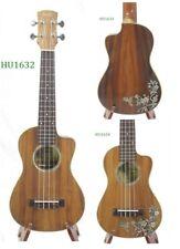 Alulu Solid Acacia Koa Cutaway Concert Ukulele, hummingbird inlay HU1632-1634