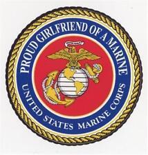"5.5"" - 9"" PROUD GIRLFRIEND OF A MARINE USMC Seal Choose Size Car Magnet"