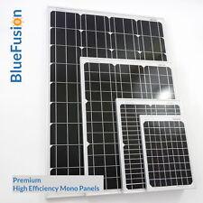 BlueFusion Premium Mono-crystalline Solar Panel 10W 20W 50W 100W Boat Caravan