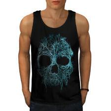 Árbol de la naturaleza Metal Calavera Men Camiseta sin mangas Nuevo | wellcoda