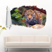 Jaguar 3D Torn Hole Ripped Wall Sticker Decal Decor Art Mural Animals WT258