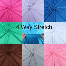 1 yard Shiny Milliskin 4  Way Stretch Lycra Polyester Spandex Fabric