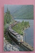 CP 2553 C-Liner 4056 & 1600 Thrums BC in 1968 Unused Train Postcard