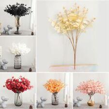 5 Twigs 20 Heads Elegant Imitation Artificial Eucalyptus Flower Wedding Decor UK