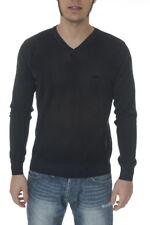 Maglia Maglietta Armani Jeans AJ Sweater Pullover -50% Uomo Blu W14KL- SALDI